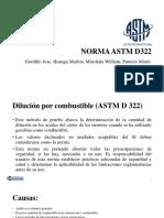 Norma ASTM D322 y D323