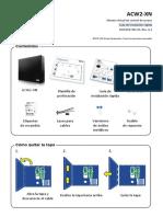 HID ACW2-XN Quick Guide ES - Guía rápida