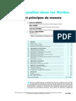 Pressions usuelles dans les fluides - Instruments et principes de mesure