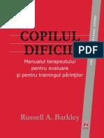 Russell A. Barkley - Copilul dificil. Manualul terapeutului pentru evaluare și