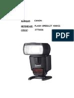 Fiche Technique Flash 430 EX