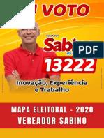 MAPA ELEITORAL 2020 - VEREADOR SABINO 13222