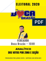 MAPA ELEITORAL 2020 - VEREADOR DOCA BRAZÃO