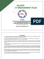 Model _Onsite Emergency Mgt. Plan