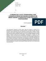 O ENSINO DE FLAUTA TRANSVERSAL NOS CONSERVATÓRIOS ESTADUAIS DE MÚSICA DE MINAS GERAIS A PARTIR DO OLHAR DOS SEUS PROFESSORES