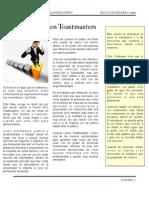 Newsletter Toastmaster Puerto Rico (Feb 2011)