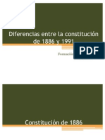 Diferencias Entre La Constitucion de 1886 y 1991