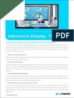 Newline  T86 Interactive Displays Data sheet