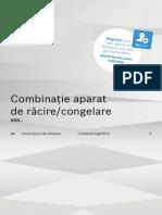 Manual Combina Frigorifica Bosch A++