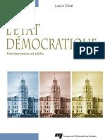 Louis Cote - LEtat democratique _ Fondements et defis