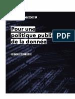 """Rapport - """"Pour une politique publique de la donnée"""""""