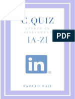 C Quiz Linked in Assesment [a-Z]