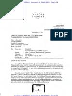 GAUNTLETT v. ILLINOIS UNION INSURANCE COMPANY IUIC Denial Letter