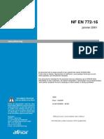 NF EN 772-16 砌筑工程的试验方法 第16部分:尺寸确定
