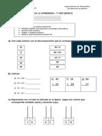 Formativa Matemática 1° básico AGOSTO
