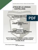 MODULO DE DIDACTICA DE LA LENGUA CASTELLANA