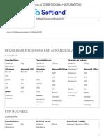 requerimientos softland ERP _ Softland Chile