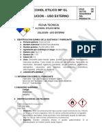 FICHA TECNICA ALCOHOL 96° BIOXCLEAN - OFICIAL
