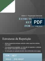5. Estruturas de Repetição - FOR