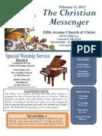 February 15 Messenger