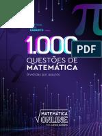 1000 questões de Matemática