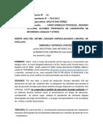 ALCANZO LIQUIDACION DE INTERESES, DESIGNO DEFENSA Y OTROS