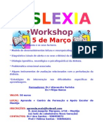 Folheto informativo workshop dislexia