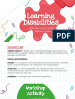 learning disabilities multimedia presentation