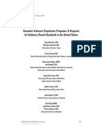 Domestic Violence Perpetrator Programs- A Proposal for Evidence-Based Standards in the United States