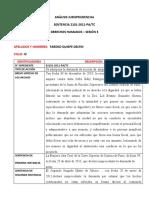 ANÁLISIS JURISPRUDENCIAL DIGNIDAD HUMANA SENTENCIA - DELFIN TARDEO QUISPE