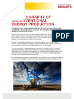 THE GEOGRAPHY OF UNCONVENTIONAL ENERGY PRODUCTION