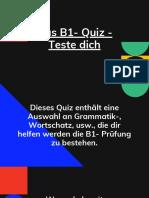 Das B1- Quiz - Teste dich (1)
