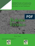 Boletim Técnico 10 -  Responsabilidade Social na Construção Civil - Hênio Tinoco - ALCONPAT 2013