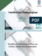 Tendências Pedagógicas - Apresentação(1)