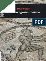 Weber - 1891 - Historia Agraria Romana (2004)