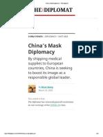 China's Mask Diplomacy – The Diplomat