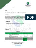 0701. COTIZACIÓN SEÑOR STELLA AGUILAR