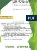 COURS D'ÉCONOMIE DE L'ENVIRONNEMENT ET DES RESSOURCES NATURELLES (2)