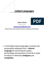 Controlled Languages  STE