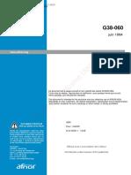 NF G38-060(1994)(纺织品 工业用品 土工织物和相关制品使用的推荐规范 安装土工织物和相关制品的检验)