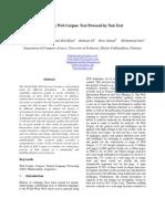Evolving Web Corpus Text Powered by Non Text by Zaheer Ahmad Peshawar University 15-09-2010