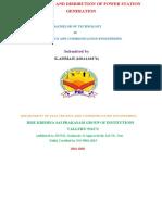 TRANSMISSION AND DISRIBUTION OF POWER STATION GENERATION