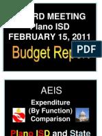 Plano ISD Februrary Budget Report