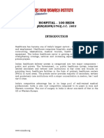 PROJECT REPORT ON HOSPITAL - 100 BEDS