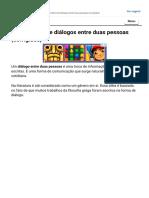 10 exemplos de diálogos entre duas pessoas (corrigidos) - Maestrovirtuale.com