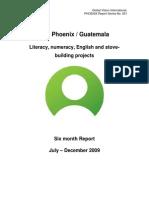 Project Report GVI Phoenix Guatemala 2009