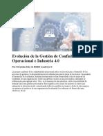 Evolución de la Gestión de Confiabilidad Operacional e Industria 40