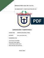 JURIDICCION Y COMPETENCIA - monografia