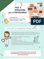 2020 ETICA  E INVESTIGACION EN LA  PSICOLOGIA