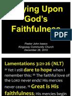 12-26-2010 Relying Upon Gods Faithfulness